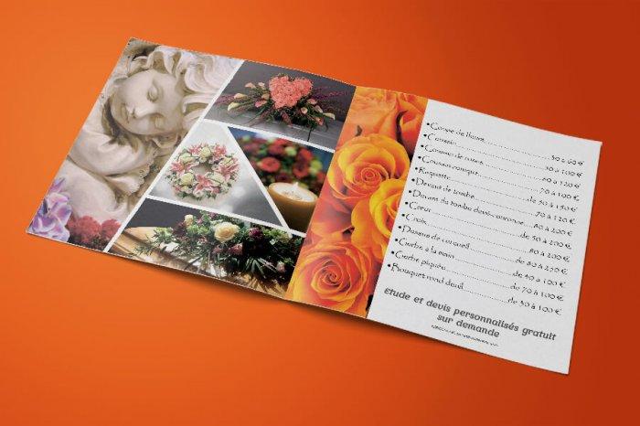 Catalogue prestige plaquette deuil для La fleuriste Франция