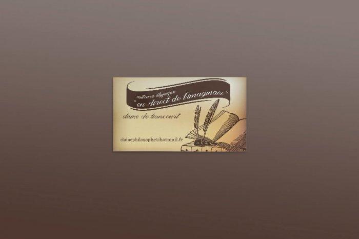 Elaine de Liancourt carte de visite