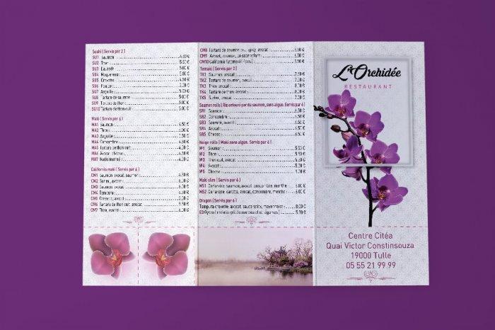 Restaurant L Orchid флаер